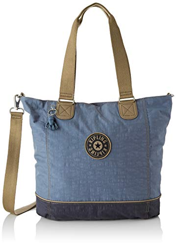 Kipling Shopper C, Borsa Donna, Blu (Stone Blue Block), 45x34x18 centimeters (B x H x T)