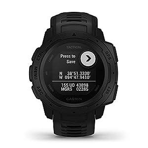 Garmin Instinct Tactical Edition GPS Watch and Wearable4U 2200 mAh Power Bank Bundle (Tactical Black)