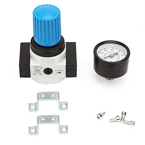 Luftregulierung einstellbar Druckminderer Manometer ÜberdruckventilG1 / 4 Wasserdruckregler Sandfilter Einstellbarer Wasserdruckminderer