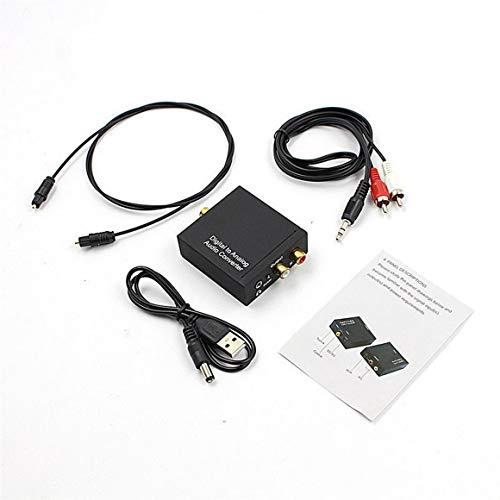 KoelrMsd Convertidor de Audio Toslink óptico a analógico L / R RCA...