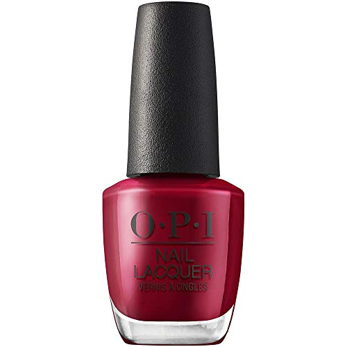 Opi Nail Lacquer Red-Y For The Holiday – Nagellack In Samtigem Rot Mit Bis Zu 7 Tagen Halt – Ergiebig, Langlebig & Splitterfest – 15ml