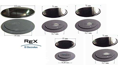 REX ELECTROLUX ZOPPAS PIATTELLI SPARTIFIAMMA CUCINA 5 FUOCHI 3 MEDI S 4445