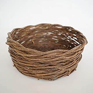 micia luxury(ミシアラグジュアリー) ニューボーンフォト 撮影用 赤ちゃんカゴ バスケット 柳 直径50cm×高さ18cm
