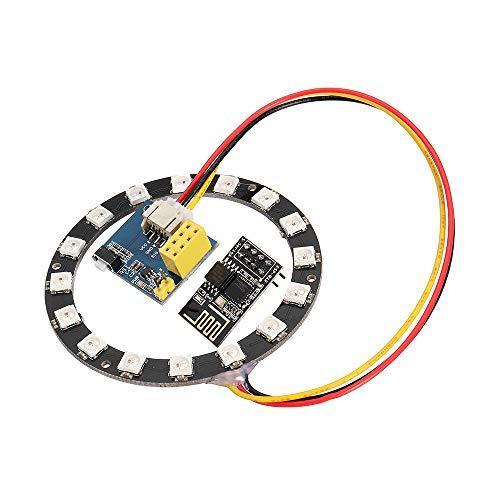 PULLEY -L WS2812 Transparenter Ring Elektronischer Maker Student Bildung ESP8266 ESP01S 01 RGB LED Smart Wifi Kit für Arduino L