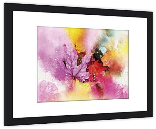 GaviaStore Poster und Gemälde - Gerahmte Fotos - 70x50 cm - bild kunstdruck wohnzimmer wandbilder wall art picture bilder home decor gemalt Rahmen (Laub)
