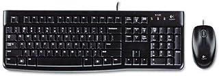 Logitech 920002565 MK120 Wired Desktop Set, Keyboard/Mouse, USB, Black