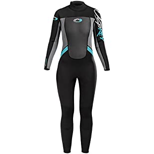 Osprey Women's 3 mm Full Length Summer Wetsuit Origin, Black/Blue, Small
