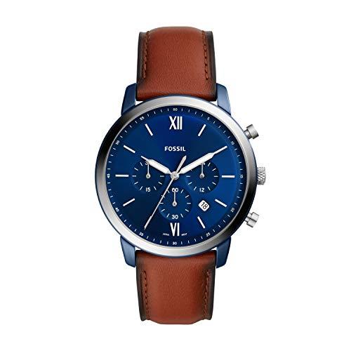 FOSSIL Reloj Analógico para de los Hombres de Cuarzo con Correa en Cuero FS5791