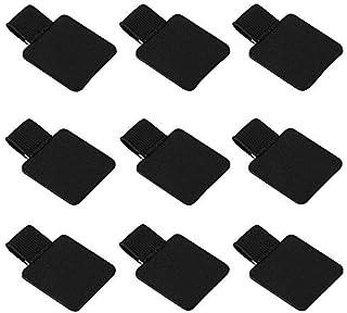 Self-Adhesive Leather Pen Loops Volin Crik Pen Holder Pencil Elastic Loop Designed for Notebooks JournalsCalendars (Black 9Pcs)