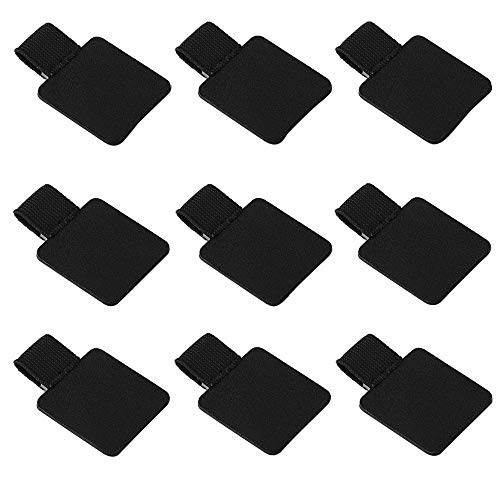 9 Pack Pen Loop Holder, Volin Crik Self-Adhesive Pen Holder Pencil Elastic Loop Designed for Notebooks, Journals,Calendars (Black 9pcs)