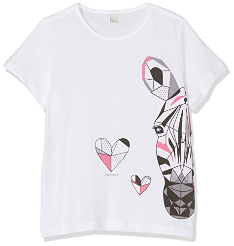 ESPRIT KIDS Mädchen SS T-Shirt, Weiß (White 010), (Herstellergröße: 104+)