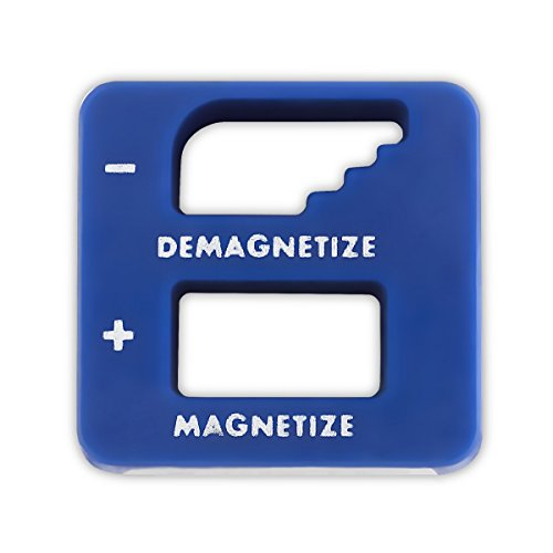 Katzco Blue Precision Magnetizer and Demagnetizer - 1 Pack - for Screwdrivers, Screws, Drill Bits, Sockets, Nuts, Bolts, Nails, Drivers, Wrenches, Tweezers, and Other Steel Tools