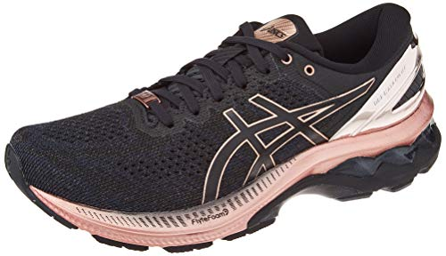 ASICS Women's Gel-Kayano 27 Platinum Road Running Shoe, Black Rose Gold, 4.5 UK