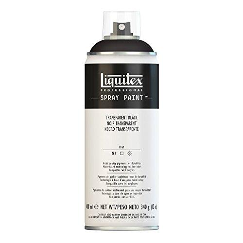 Liquitex Professional Spray Paint, Transparent Black