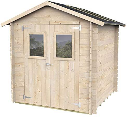 Casetta in legno Per Attrezzi Jack con porta doppia finestrata 198 x 198 cm