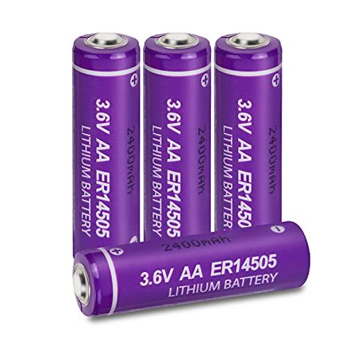 Batería de Litio AA ER14505 S14500 3.6V 2400 mAh para Juguete, cámara, 4 Piezas, PKCELL