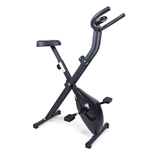Uten Fitnessbike klappbarer Heimtrainer,Trainingsfahrrad,Beintrainer, LCD- Display,8 level verstellbare Widerstandsstufen, Handpulssensore,Verstellbarer Sitz, leise Fahrradtrainer für Zuhause Büro