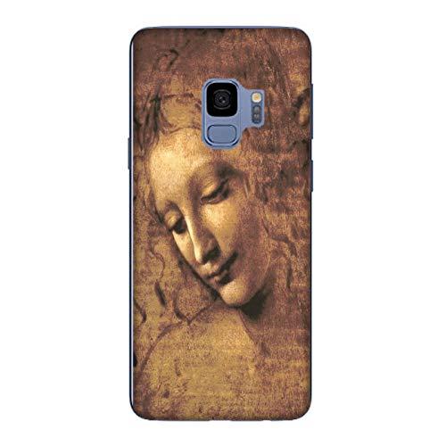 Generico Cover Samsung Galaxy S9 Leonardo da Vinci Testa FANCIULLA SCAPIGLIATA/Custodia TPU Silicone Morbida Flessibile Sottile/Case Anticaduta Antiscivolo AntiGraffio Antiurto Protettiva Gomma