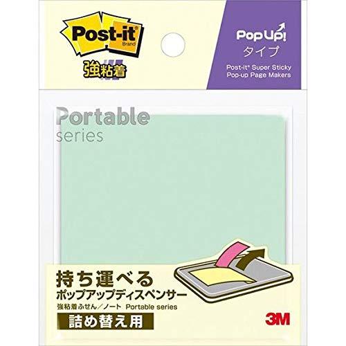(まとめ買い)スリーエム ポストイット 強粘着ノート ポータブルシリーズ ポップアップタイプ詰め替え用 75×75mm 30枚×3パッド SSPOP-AA 【×10】