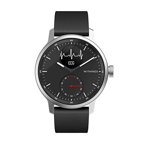 Withings ScanWatch - Reloj inteligente híbrido con ECG, tensiómetro y oxímetro, 42 mm, color Negro
