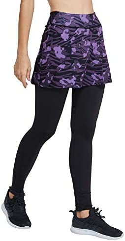 slimour Women Skirts with Leggings Fleece Lined Leggings with Pockets Yoga Pants with Skirt product image