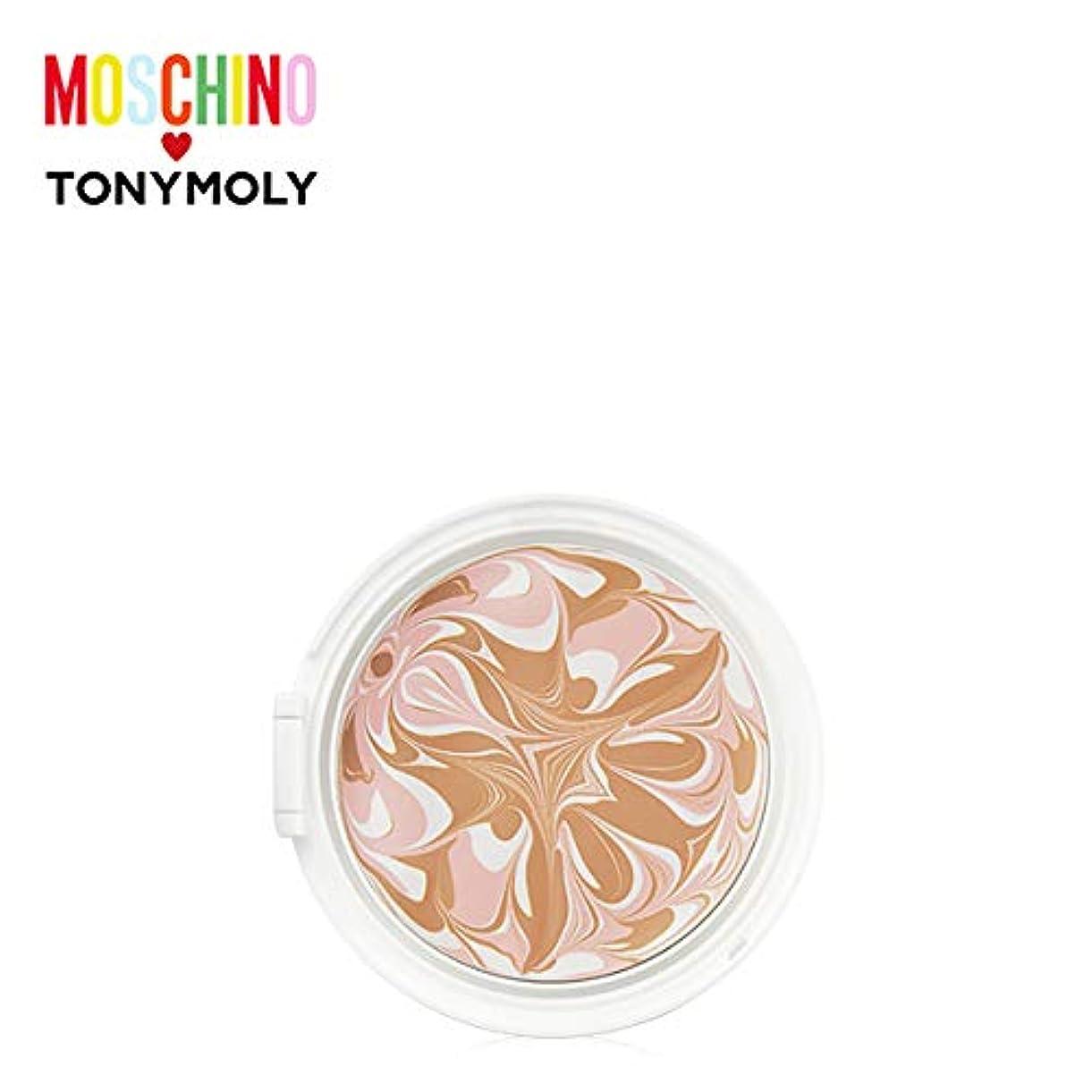 船員トムオードリース神聖TONYMOLY [MOSCHINO] Chic Skin Essence Pact -Refill #01 CHIC VANILLA トニーモリー [モスキーノ] シック スキン エッセンス パクト -リフィル [詰め替え用] [並行輸入品]