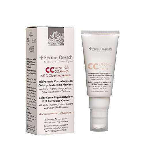 Farma Dorsch CC Cream Hidratante Correctora con Color y Protección SPF 50 - 50 ml