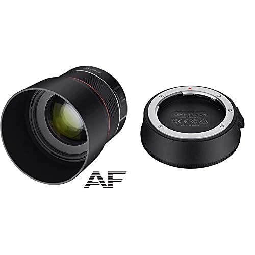 Samyang AF 85mm F1.4 EF - 85mm Festbrennweite Autofokus Vollformat Objektiv, 77mm Filtergewinde & Lens Station für AF Canon EF Objektive - ermöglicht System Upgrade, kalibriert Blende