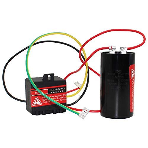 LI-SUN AC Hard Start Capacitor Compatible with 5-2-1 CSR-U3, Compressor Saver for 4 to 5 Tons, Hvac Hard Start Kit
