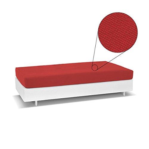 Biancaluna Living Genius Tagesdecke für Einzelbett, schmutzabweisend, R454, Rot