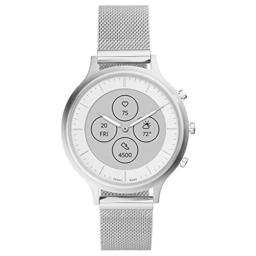 Fossil Women's FTW7030 Charter Hybrid Smartwatch HR with Always-On Readout Display, Heart...
