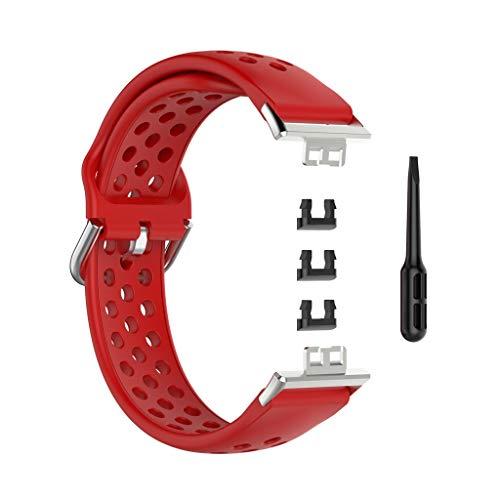 Myya Correa De Reloj Deportiva De Silicona De Repuesto Transpirable para -Huawei Watch Fit 1.64'Vivid AMOLED Display Watch
