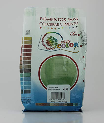 Easy Color pigmento Verde 266. Pigmento para cemento, mortero y hormigón (Verde)