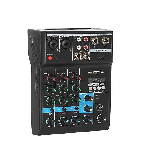 Mini Mezclador De Audio Con Calidad De Estudio, Mezclador Digital Bluetooth De 4 Canales, Mezclador De Audio Portátil, Consola De Mezcla De Audio Para Dj Con Efecto De Reverberación.
