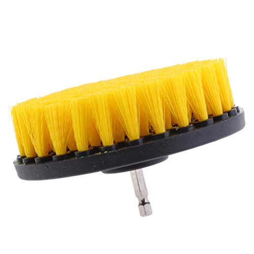 Best Bargain 1PC Tile Grout Cleaning Drill Brush Scrub Brush Drill Attachment Drillbrush - Yellow Me...