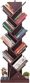 Himimi 9-Shelf Tree Book Shelf for Books, Magazines, DVDs & More