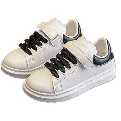 Zapatos para niños Niñas High School Junior High School Zapatillas Blancas Niños Zapatillas de Deporte Blancas Zapatillas de Deporte Blancas sin Cordones(White,26 (16.0 cm))