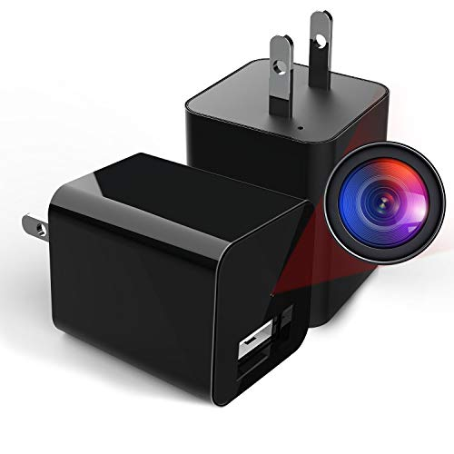 Hidden Camera Charger WiFi,USB Spy Camera Charger,Spy Cameras Wireless Hidden 1080P HD Live Streaming with App, Nanny Cam Motion Activated,with 32GB...