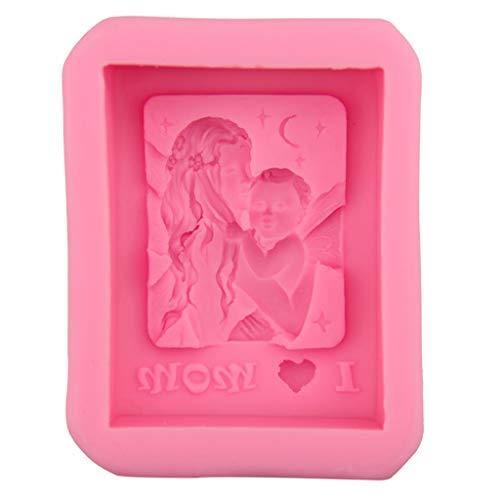 R-WEICHONG Moule à bougie 3D en silicone faite à la main pour la fête des mères