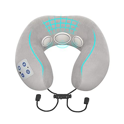 Masajeador de Cuello, BOMBOMDA Masajeador Cervical Electromagnético Inteligente Masajeador de Espalda y Cervicales, Masajeador Inalambrico con de Calefacción para Aliviar el Dolor de Espalda y Cuello