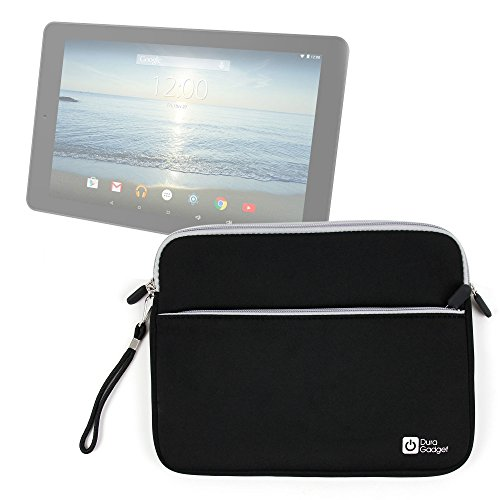 DURAGADGET Black 10' Neoprene Water-Resistant Case - Compatible with The NEW RCA Viking Pro 10.1' 2-in-1 Tablet & RCA Pro II 10.1' Tablet - With Zipped Front Storage Pocket & Removable Wrist Strap