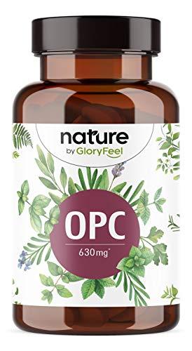 Integratore Estratto di semi d'uva OPC Resveratrolo Proantocianidine, 180 Capsule Vegan, 630 mg OPC Puro, Antiossidante Natural
