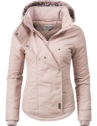Sublevel Damen Übergangsjacke Outdoorjacke 46550D Rosa Gr. XL
