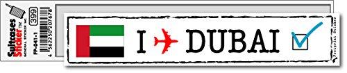 FP-041-01 フットプリント ステッカー/ドバイ(DUBAI) スーツケースステッカー 機材ケースにも! (白)