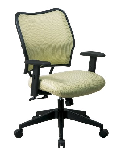 SPACE Seating Deluxe VeraFlex Fabric Seat and Back, 2-to-1 Synchro Tilt Control and 2-Way Adjustable Arms Managers Chair, Kiwi