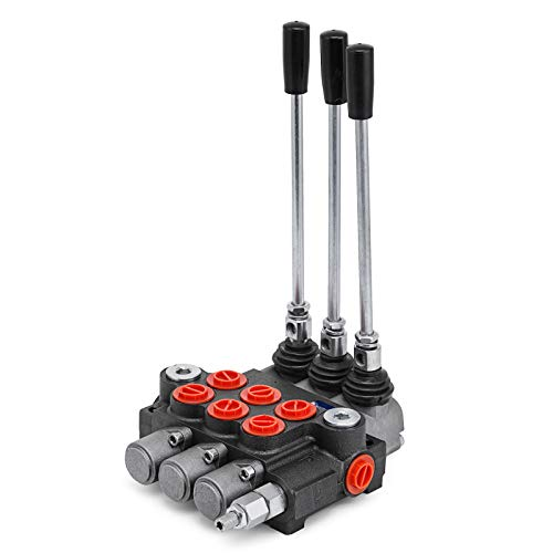 Mophorn 3 Spool Hydraulic Directional Control Valve 11GPM SAE Ports Double Acting