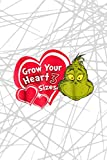 Body Progress Tracker Dr. Seuss Grinch Grow Your Heart: 6' x 9' size, 114 pages