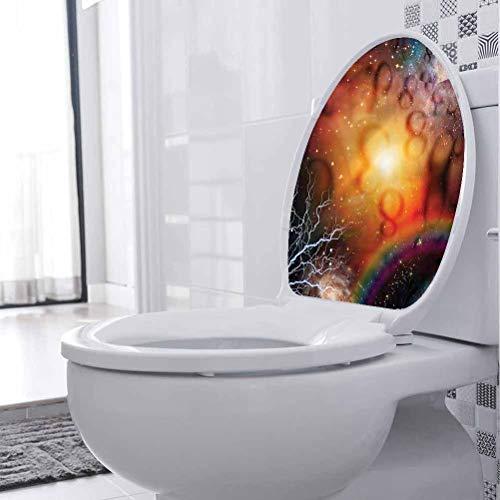 Pegatina de vinilo para asiento de inodoro, diseño de astrología, espiritualidad astral, para inodoro, baño, hogar, silla, sofá, 45 x 45 cm