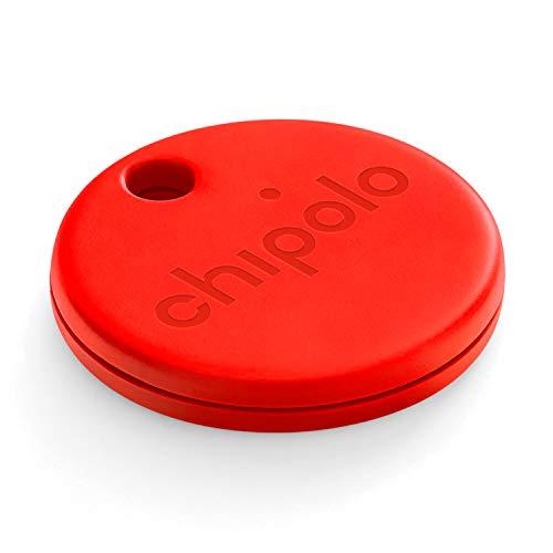 Chipolo One (2020) - Localizador de Llaves Bluetooth más Potente y Resistente al Agua (Rojo)