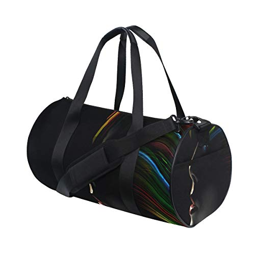 HARXISE Sporttasche Reisetasche,Futuristische Modefotografie,Schultergurt Handgepäck für Übernachtung Reisen